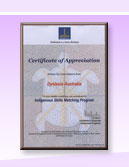 Dyslexia Australia Certificate Of Appreciation